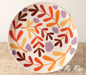 Tampa Fall Floral Charger