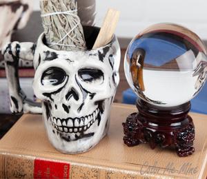 Tampa Antiqued Skull Mug